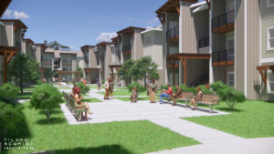 legacy trails courtyard render